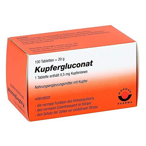 Kupfergluconat Wörwag Pharma, 100 St. Tabletten
