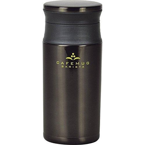 カフェマグバリスタ軽量マグボトル350ml ブラック 【水筒 すいとう スポーツ キャンプ アウトドア 携帯用 けいたい 持ち運び 持ち歩き マイボトル シンプル 2500】