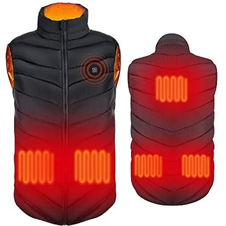 【値下げ】WWTECKS USB電熱ベスト 3段階温度調整&5つのヒーター 1,494円送料無料から!【2/14まで】