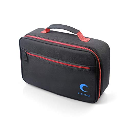 Beamertasche,Tragbare Tasche für Crenova XPE500 Mini Beamer und Zubehör,schwarz,30x20x9.5cm,Passend für die meisten kleinen Beamer