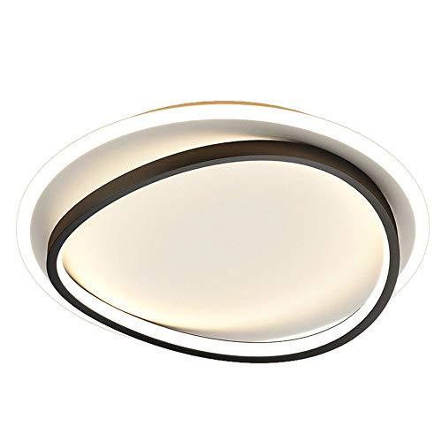 ZHANGL Ahora Simple Dormitorio Techo luz led Montaje al RAS de Techo luz nórdica Redonda Blanca + Techo Negro lámpara de Techo Blanco iluminación Ligera luz (tamaño : 50CM)