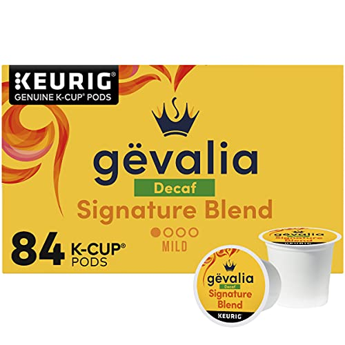 Gevalia Signature Blend Decaf Mild Light Roast K-Cup Coffee Pods (84 ct Box)