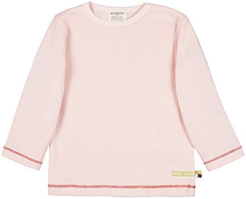 loud + proud Shirt Waffel, GOTS Zertifiziert T, rosé, 62/68 cm Unisex-Bimbi