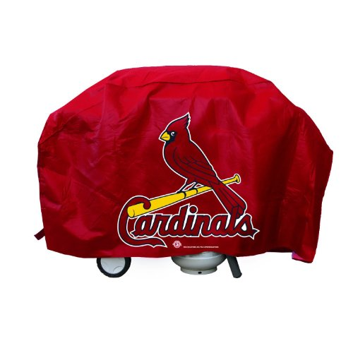 """Rico Industries St. Louis Cardinals Economy Grill Cover, 68"""" wide, 35"""" high and 21"""" deep"""
