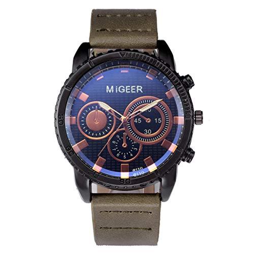 TTLOVE Herren Damen Chronograph Quarz Uhr Mit Leder Armband Quarzuhr Analog Armbanduhr Mode Klassisch Uhr Stilvolle, Raffinierte Armbanduhr Aus Stahl Quarzwerk Edelstahl-Zifferblatt Uhren