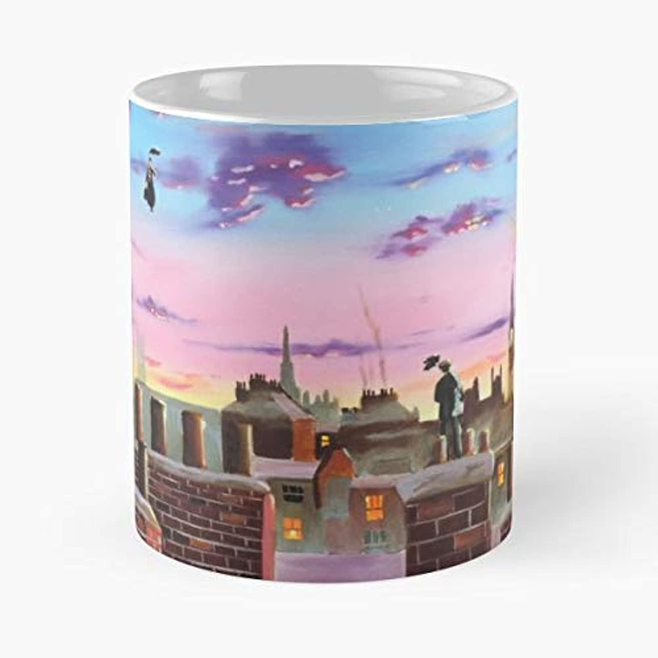 Mary Poppins Gordon Bruce London Gordonbruceart - Coffee Mugs Unique Ceramic Novelty Cup For Holiday Days 11 Oz.