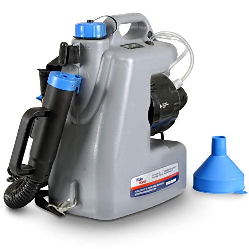 AlphaWorks Fogger Machine Disinfectant ULV Sprayer IMPROVED Corded Back Pack Mist Duster 3GAL Mist Blower Adjustable Particle Size 0-50μm/Mm
