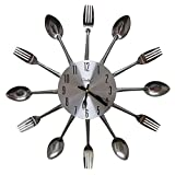 Linian Horloge de cuisine effet miroir...