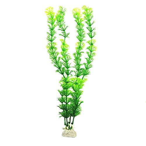 GRASARY Flores Artificiales, Césped Artificial De Agua, Pecera, Planta De Jardinería, Acuario, Decoración De Malezas De Color Verde Oscuro