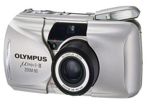 Olympus µ[mju:]-II Zoom 80 Kleinbildkamera schwarz