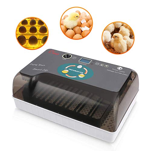 Sailnovo Egg Incubator Hatcher Automatic Turning and Hatching, Egg Incubator Machine LED Display for Chickens Ducks Goose Birds Pigeon Quail, Etc Home Use, 4-35 Eggs