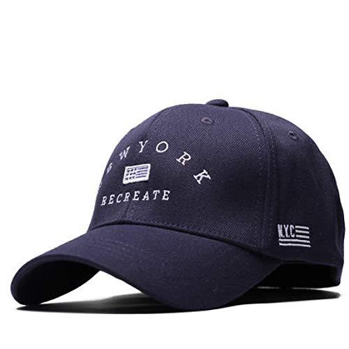 FHHYY Gorra Sombreros de Hip Hop Ajustados para Hombre Sombrero para el Sol al Aire Libre Cerrado para Hombres Sombrero de Verano de algodón Gorra Plana con Gorra de béisbol de 56-59 cm