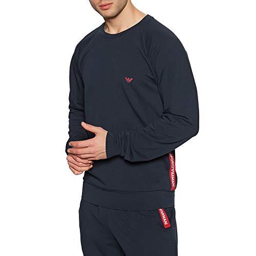 Emporio Armani Underwear Sweater+Trousers Stretch Terry Sudadera + pantalones de tejido elástico,...