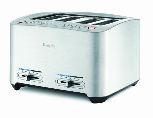 Breville BTA840XL Die-Cast 4-Slice Smart Toaster, Stainless Steel