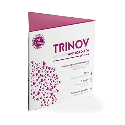 Trinov Lozione Anticaduta Donna | Trattamento Cosmetico Per Contrastare La Caduta Dei Capelli Nella Donna| Dermatologicamente E Clinicamente Testato | Flacone Da 30 Ml