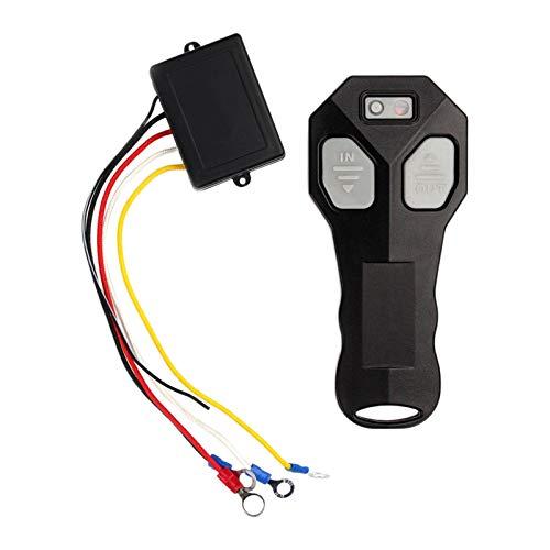 prasku 1 Par de Kit de Controlador de Control Remoto Inalámbrico Universal de 12 V para Coche, Camión, Negro, Control Remoto, Llavero - Opción 1