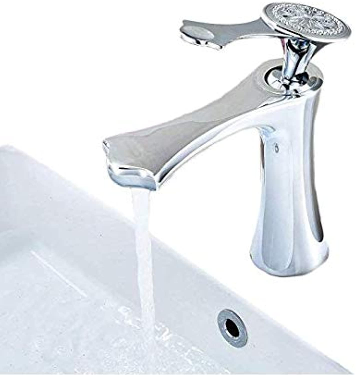 Basin Faucet Retro Faucetbasin Mixer Tap Chrome Carved Pattern Bathroom Sink Taps Lever Wash Basin Faucet