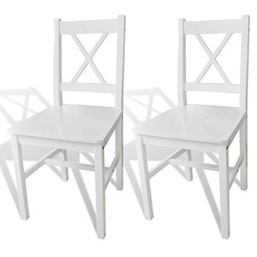 Holzstuhl Esszimmerstuhl weiß 2 Stück