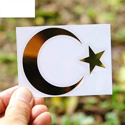 60 * 74mm türkische Flagge Truthahn Halbmond Flagge der Türkei Stern Metall Nickel Auto Aufkleber Auto Auto Aufkleber