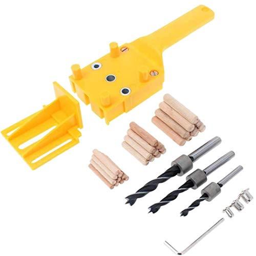 Set von 38 Dowel Jig Holzdübeln zur Holzdübel Jig Kit Hand Bohren Dübeln Loch Holz Bohren Dübeln Lochsäge Werkzeuge
