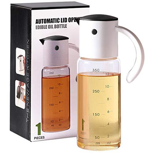 YXDS Botella dispensadora de Aceite para Cocina Vaso de vinagre de Cocina con Tapa abatible automática y Botella para Verter de Aceite con Boquilla antigoteo