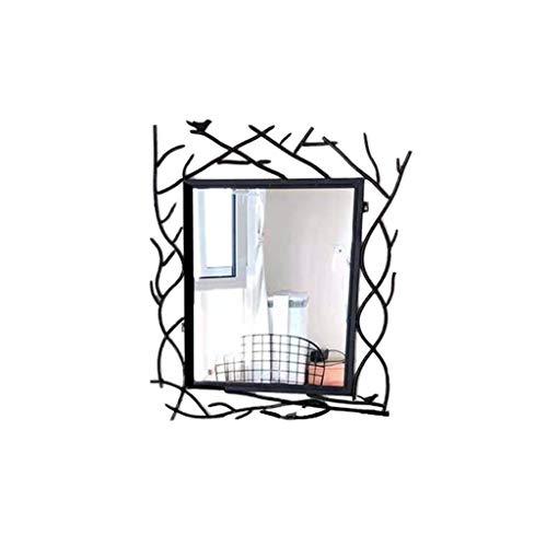 JINAN KaxJZ-make-up spiegel Rechthoek Halflange Spiegel, Zwarte Make-up Spiegel Smeedijzer Woonkamer Decoratieve Spiegel Half Spiegel Chic Home Accessoires Glad platte spiegel