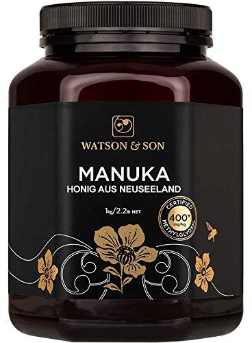 Watson & Son Manuka Honig MGO 400+ 1000g | Premium Qualität aus Neuseeland