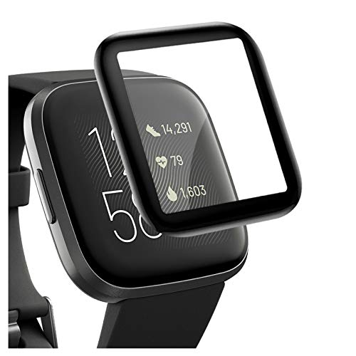 CAVN 4-Pack 3D Screen Protector Compatible with Fitbit Versa 2, Full Coverage Screen Protector Protective Cover Saver for Versa 2 Smartwatch, Waterproof/Scratch Resistant/Bubble Free