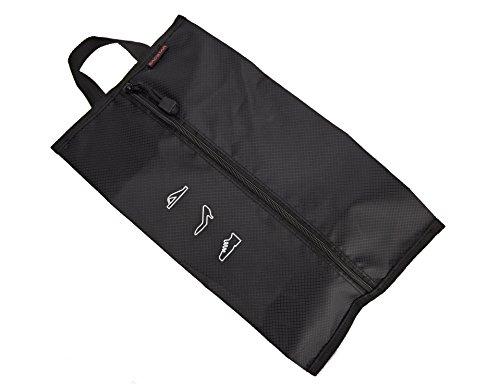 sacstar Scarpe da viaggio unisex borsa, sacchetto impermeabile Scarpiera con chiusura a zip Black