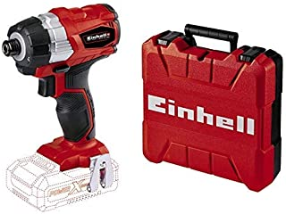 Einhell TE-CI 18 Li BL Solo Power X-Change Cordless Brushless Impact Driver, 18 V, Red with Einhell 4530045 E-Box S35/33 S...