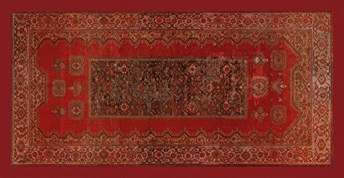 Centesimo Web Shop Tappeto Classico Passatoia Corridoio Riproduzione Stampato Antiscivolo Antico Persiano Malayer - Rosso - 99x201 cm