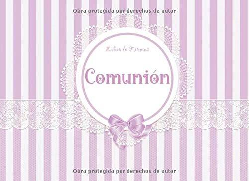 LIBRO DE FIRMAS COMUNIÓN: Libro para dedicatorias de invitados