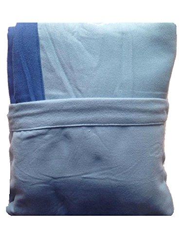 Marilyn Coprilettino Telo Mare Lettino Sdraio Con Tasche E Borsetta In Microfibra (Celeste Tasche Azzurre)