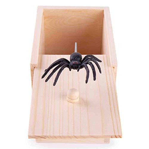 GSM Brands Wooden Spider Prank Scare Box