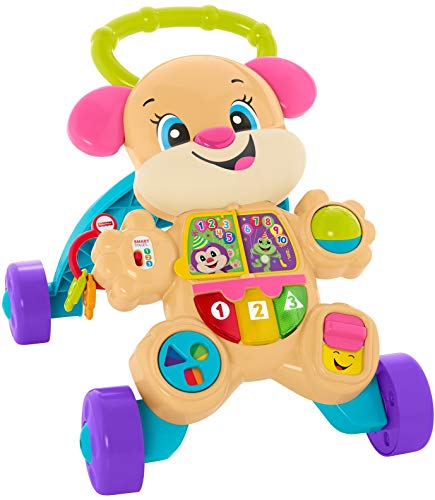 Fisher-Price Laugh & Learn Smart Stages Learn with Sis Walker, Musical Walking Toy for Babies and Toddlers Ages 6 to 36 Months