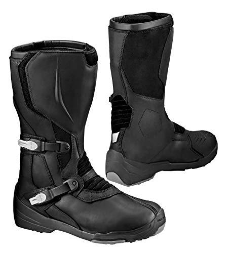 BMW Botas de moto Gravel impermeables de piel para Enduro, color negro, talla 38