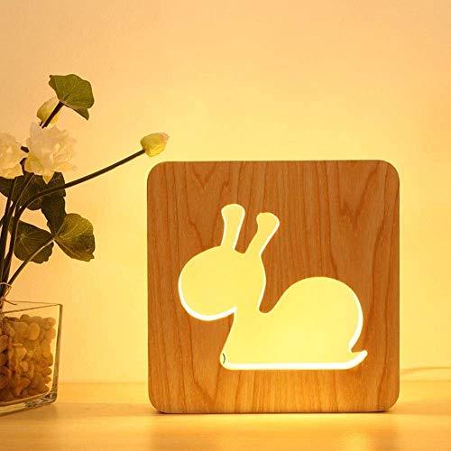 Lámpara Escritorio Lámpara romántica creativa minimalista caracol liderado lámpara LED luz nocturna hueleado caracol diseñado decoración de noche decoración de la cama regalo de valentín sala de estar