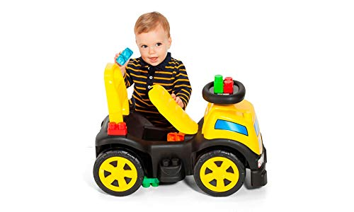 Veículo Para Bebê, Cardoso Toys, Blocks Truck, Menino, Com 10 Blocos
