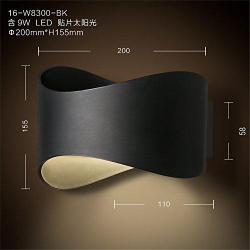 YU-K minimalistisch slaapkamer bedlampje muur gepersonaliseerde woonkamer muur lamp straatstudie muur boven het bed, balkoled wandbad muur