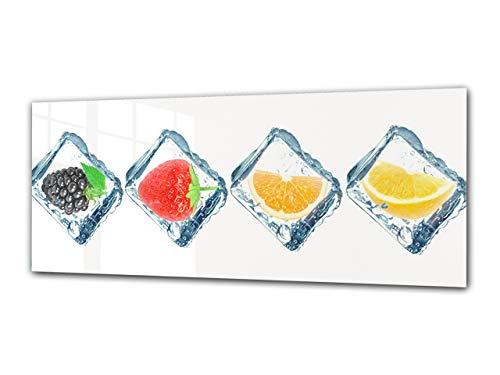 Cuadro de cristal con imagen panorámica 125 x 50 cm – Frutas...