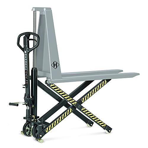 Scherenhubwagen HEMMDAL manuell mit Schnellhub | Tragkraft 1000 kg | Hochhubwagen | Gabel Länge 1150 mm | Hubhöhe 800 mm | Als Hubtisch oder Werkbank vielseitig einsetzbar