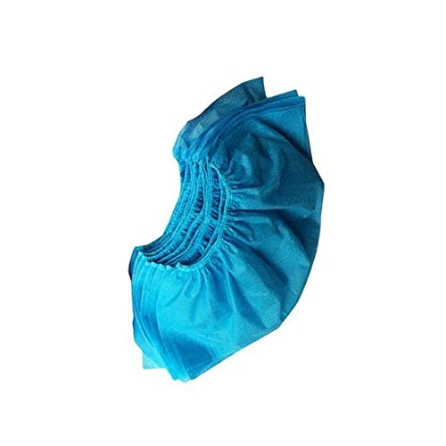100 fundas desechables para zapatos, a prueba de polvo, antideslizantes, para limpieza de alfombras, de plástico azul azul