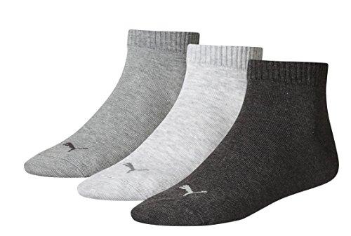 Puma Lot de 9 paires de chaussettes de sport unisexes Anthracite/gris 800-35/38