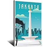 Jakarta Vintage-Reise-Poster, Bild, Poster, Familie,