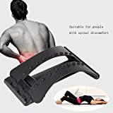 Back Stretcher Device,Massager Lumbar Support Back Pain Relief for Yoga Training Back Stretching 3 Adjustable Settings for Back Stretcher Device