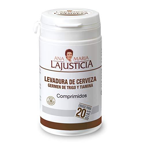 Ana Maria Lajusticia - Levadura de cerveza con germen de trigo y tiamina– 80 comprimidos. Contribuye a mantener un cabello sano, unas uñas fuertes y una piel tersa. Envase para 20 días.