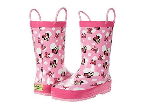 Western Chief Kids Girl's Minnie Bow Town Rain Boot (Toddler/Little Kid) Pink 11-12 Little Kid M