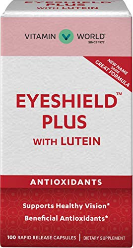 Vitamin World Eyeshield Plus with Lutein 100 Capsules, Eye Health, Vision, Antioxidant, Rapid-Release, Gluten Free