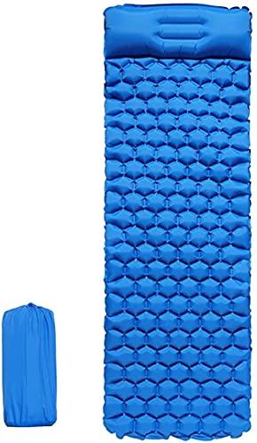Estera de dormir de camping al aire libre con almohadas ligero tienda Mat playa impermeable sola persona inflable automático Mat