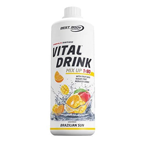 Best Body Nutrition Vital Drink Brazilien Sun, Getränkekonzentrat, 1000 ml Flasche